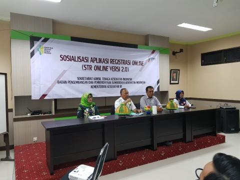 Sosialisasi STR Online Versi 2.0 di Mamuju, Sulawesi Barat (13/3/2019).