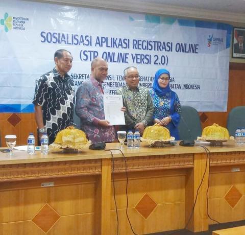 Sosialisasi STR Online Ver 2.0 di Makassar, Sulawesi Selatan (14/3/2019).