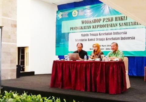 Workshop P2KB Himpunan Ahli Kesehatan Lingkungan (HAKLI) Peningkatan Keprofesian Sanitarian