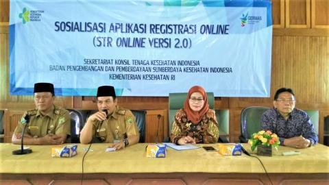 Sosialisasi STR Online Ver 2.0 di Dinas Kesehatan Provinsi Bengkulu